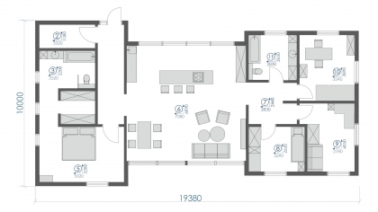 ONE-STOREY HOUSE А-141