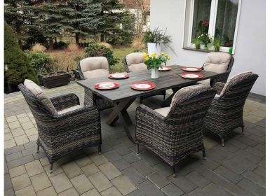 Garden rattan furniture SIENA