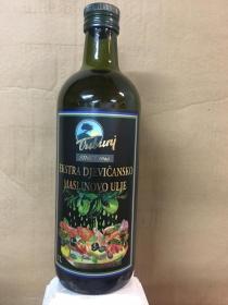 Extra virgin olive oil  TRIBUNJ  in glass bottles of 1 liter